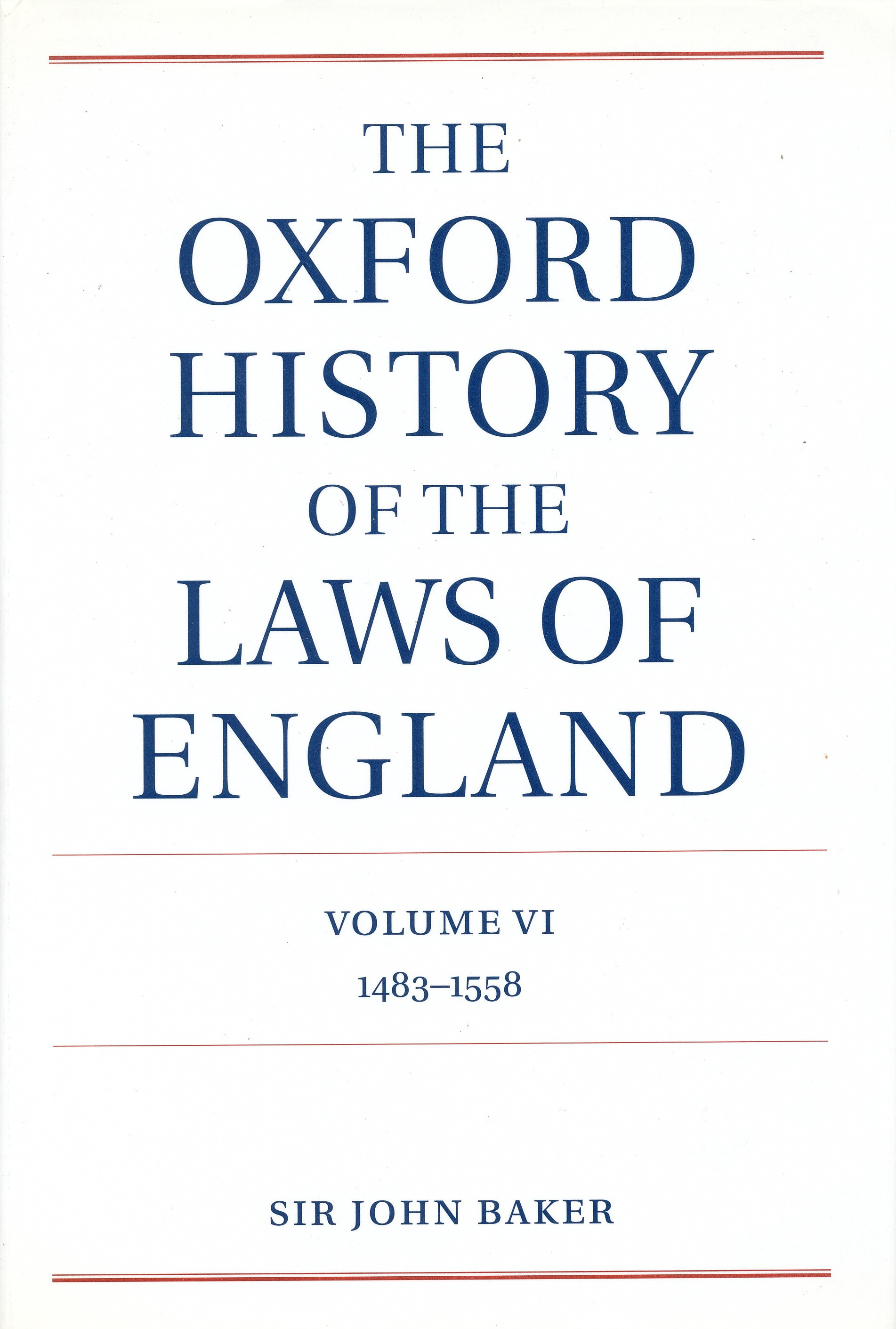 Image for The Oxford History of the Laws of England.